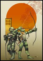 TMNT.Leo and Raph. PRINT. by MarteGracia
