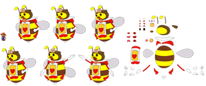 Queen Bee RED PG 2 (Paper Mario Style) by DerekminyA