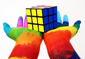 Rubik's by h0tairballoons