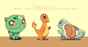 Pokemon Gen1 - starters by apply-some-pokemon