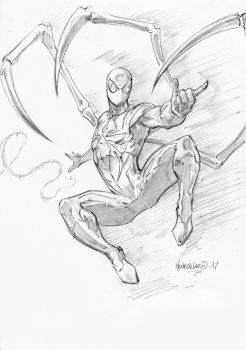 Iron Spider pencils by MenguzzOArt