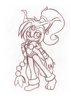 SKETCH::CinderSol.as.Shantae: by Rayne-Is-Butts