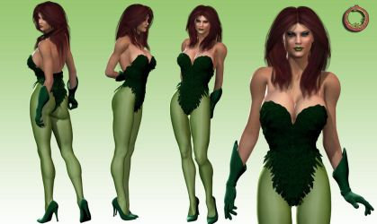 Poison Ivy character sheet by Uroboros-Art