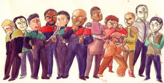 DS9 crew by imabubble