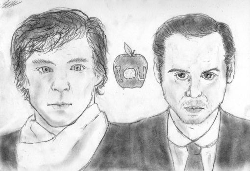 Sherlock and Moriarty by theLostOutcast