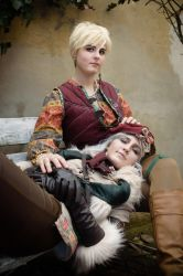Falka and Mistle (young Ciri from the books) by Juriet
