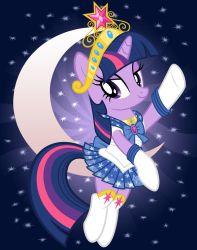 Sparkle Moon Print by tygerbug