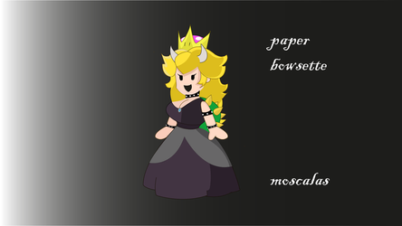 Paper Bowsette by moscalas