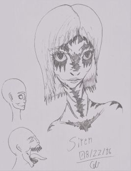 Siren Head Sketch by AdventDestiny