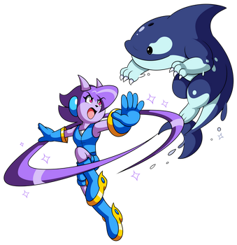 Indie Pogo Art: Lilac vs Orcane by JamesmanTheRegenold