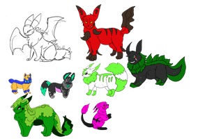 Old Account Adoptables by DEAFHPN