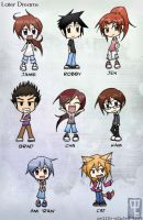 Later Dreams Cast chibi by mell0w-m1nded