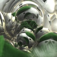 grass on geometry - Mandelbulb3D with Parameter by matze2001