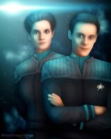 Julian Bashir and Jadzia Dax by OrbitalWings