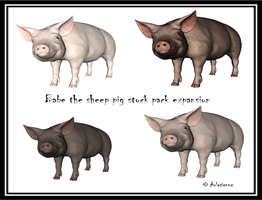 Babe the sheep pig stock pack expansion by Arlesienne