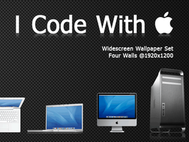 I Code With Apple - Wall Set by sveiki