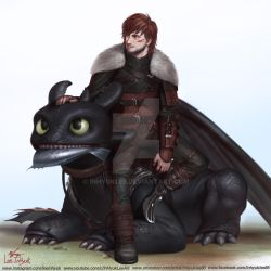 How to train your dragon3: Hiccup and Toothless by inhyuklee