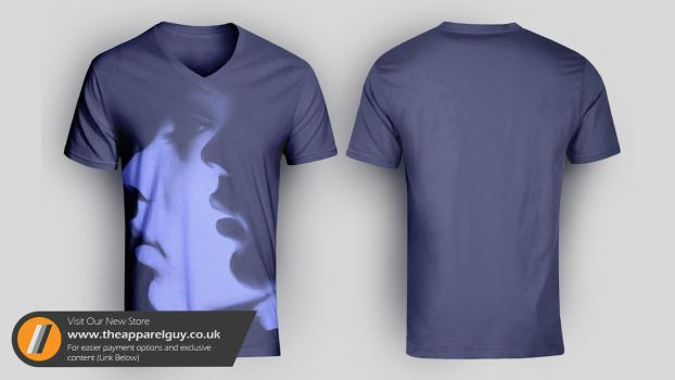 The V-Neck Mock Up by TheApparelGuy