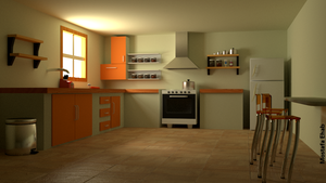 blender 3d Kitchen by M-Ehab