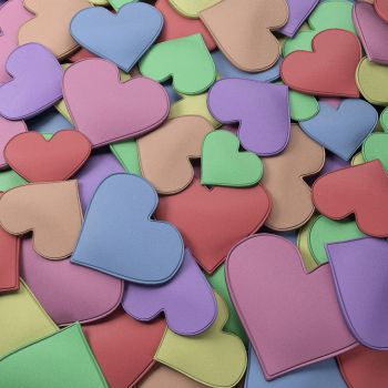 Candy color heart by dejunz