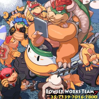 Bowser Works Team in Mario Kart 7 by MasaBowser