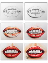 ...WIP... Mouth #2 by EVanillaArt