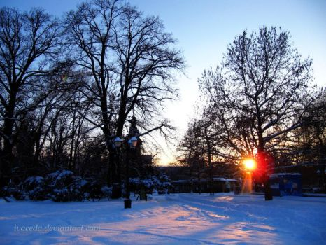 Urban Winter Sunset 3 by Aivaseda