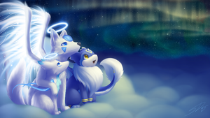Lights of the Heavens : Comm for Snowfox-Angel by streetdragon95