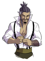 Hanzo sketch by bylacey