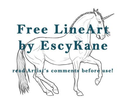 Catharsis FREE LINEART by EscyKane