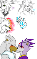 Silver and Blaze sketches by MakTheHedge01