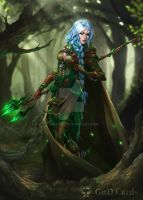 Elf druid by Tira-Owl