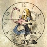 Alice In Wonderland Clock by TeapotMysteries