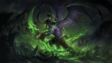 Illidan (large ver) by sandara