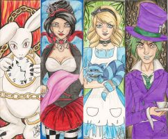 Bookmark-Alice in wonderland by Lyxy