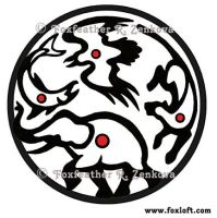 Element Wheel Glyph Tattoo by Foxfeather248