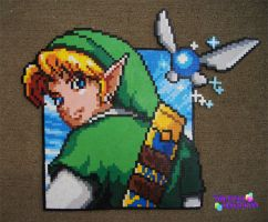 Link Square Bead Sprite by SerenaAzureth