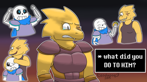 Underswap - What did you do to him? by feraIigatrs