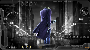 Dark Joker/Batman Theme (Rainmeter+Win7 theme) by icemanz666