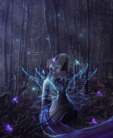 Fairy in the woods by msriotte