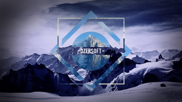 Mountain Polyscape Background by OzerSoft