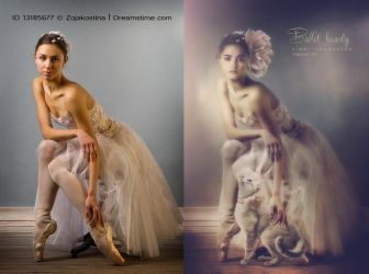 Ballet beauty before and after by CindysArt
