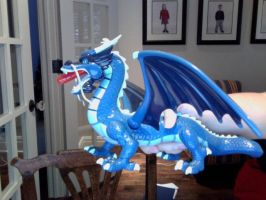 Roku's Spirit Dragon(Fang) Blue Version by FireNationPhoenix