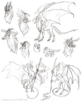 Hellgriff sketches by Sysirauta