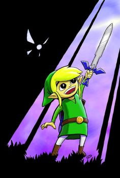 The Master Sword - color by spsillustration
