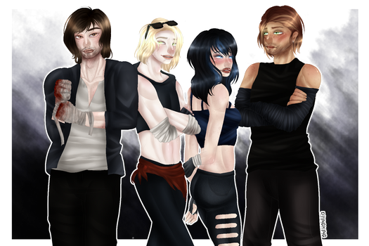 {ART TRADE} Squad {SPEEDPAINT} by DyingKing