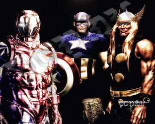 The Avengers Big 3 by giumabei