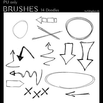 Doodle PS Brushes for Journaling by IsaaaHa