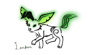 Glowy Tribal Leafeon by Haxzure
