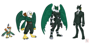 Commission .:Digimon set:. by Icandoittoo